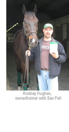 Rodney Hughes, owner/trainer with San Pail
